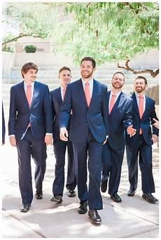 navy and coral groomsmen true love came down weddings