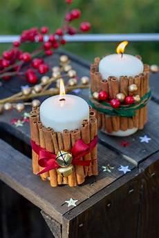 weihnachtliche zimtstangen kerzen adornos de navidad