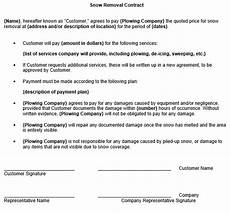 Commercial Snow Removal Contract Free Snow Removal Contract Template Snow Removal