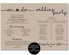 Program Template For Wedding Ceremony Program Template Printable Wedding By