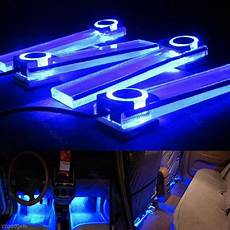 Best Led Footwell Lights 4x Led 12v Dc Car Auto Interior Atmosphere Footwell Lights
