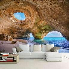 Cave Sofa 3d Image by Custom Any Size 3d Mural Wallpaper Reef Cave Living