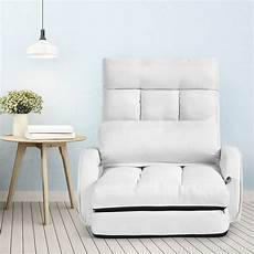 Floor Sofa Lounger 3d Image by Gymax White Folding Lazy Sofa Floor Chair Sofa Lounger Bed