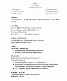 Create A Simple Resume Simple Resume Template 47 Free Samples Examples