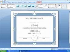 Templates In Word 2007 Word 2007 Tutorial 17 Making A Certificate With A