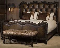 1 luxury leather bed with eye catching western styling
