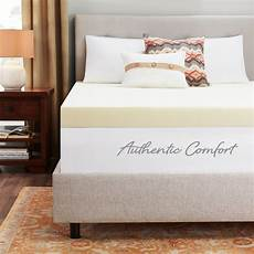 authentic comfort 4 inch breathable memory foam mattress