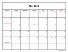 Printable May 2020 Calendar With Holidays May 2020 Calendar Printable With Bank Holidays Uk