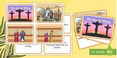 easter card template ks1 easter story matching sequencing cards easter topic easter