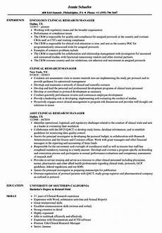 Clinical Trial Manager Resume Clinical Research Manager Resume Samples Velvet Jobs