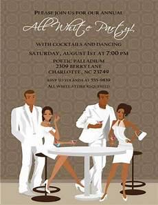 All White Party Invitations Templates Black White Attire Party Invitations