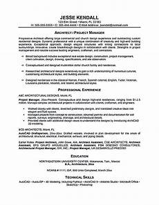 Architectural Project Manager Resume Project Manager Resume Sample And Tips Posting