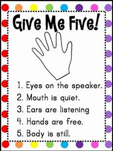 Give Me Five Rules Give Me Five Poster Freebie By Teaches Tpt