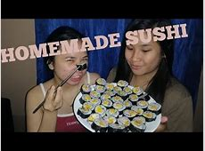 HOMEMADE SUSHI WITHOUT ROLLING MAT   PHILIPPINES   YouTube