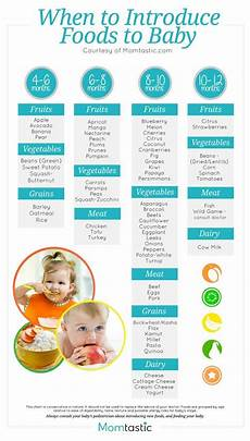 Introducing Solids Chart Introducing Solids A Month By Month Schedule Free