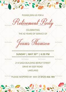 Retirement Party Invitation Template Word Corporate Retirement Party Invitation Design Template In