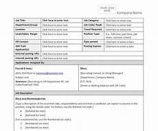 Form Description Job Description Form Template Job Description Form