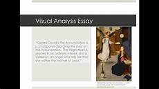 Visual Analysis Paper Visual Analysis Essay Youtube
