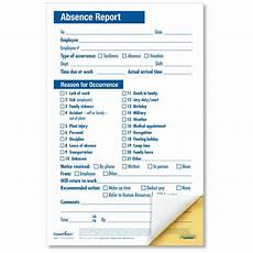 Employee Absence Report Employee Absence Report Compact 2 Part Disciplinary Forms