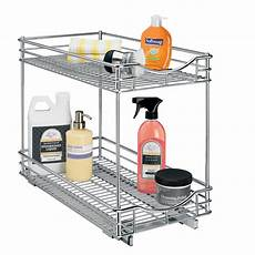 lynk roll out shelf pull out two tier sliding
