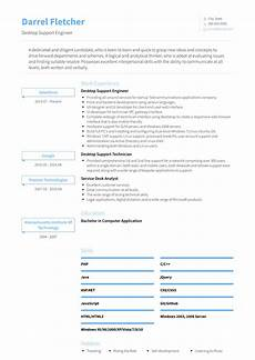 Resume Of Desktop Support Engineer Desktop Support Engineer Resume Samples And Templates