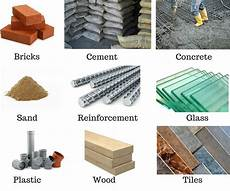 Build Of Material Different Building Materials Used In Construction Works