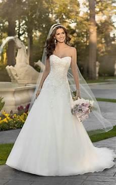 wedding dresses lace organza a line wedding dress
