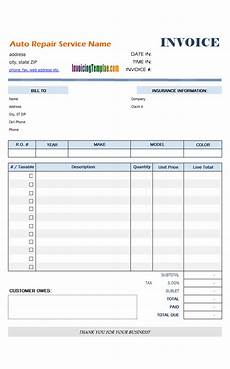 Truck Repair Invoice Template Auto Repair Invoice Template