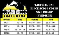 Butler Creek Caps Chart Butler Creek Tactical One Piece Eyepiece Scope Cover Size