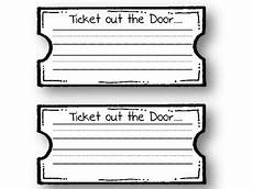 Ticket Out The Door Printable Ticket Out The Door By Elizabeth Ciavarella Teachers Pay