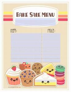 Bake Sale Template Word Bake Sale Printable Labels Set Free Printable Labels