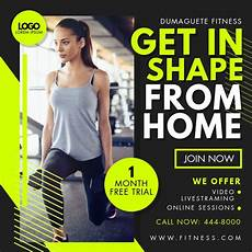 Training Advertisement Template Online Fitness App Classes Advert Template Postermywall