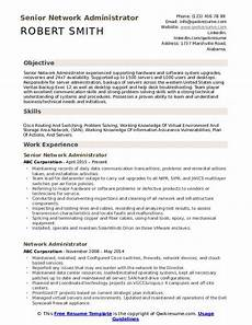 Network Administrator Resume Objective Network Administrator Resume Samples Qwikresume