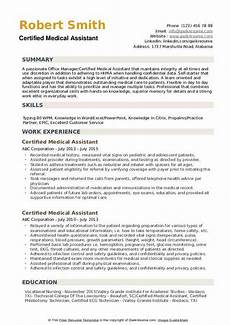 Medical Assistant Summary Certified Medical Assistant Resume Samples Qwikresume