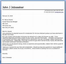 Auto Mechanic Cover Letter Auto Mechanic Cover Letter Template Career Life Pinterest