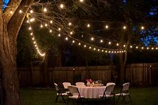 Garden Party Lights Ideas Domestic Fashionista Backyard Anniversary Dinner Party