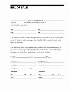 Bill Of Sale Doc Free Printable Bill Of Sale For Rv Form Generic