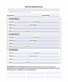 Personal Information Form For Students Free 12 Personal Information Forms In Pdf Ms Word