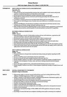 Resume Sample Education Resume Sample For Educational Consultant Education