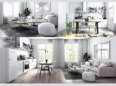 Sketchup Living & kitchen room 3D model for Download   CGSouq.com