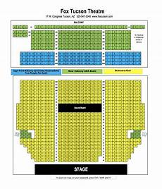 Fox Theater Detailed Seating Chart Venue Information Fox Tucson Theatre