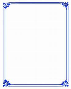 Free Blue Borders Simple Background Blue Border Certificate Templates