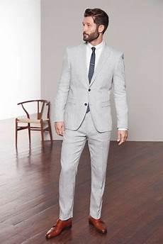 Light Grey Linen Suit Buy Light Grey Tailored Fit Nova Fides Signature Linen