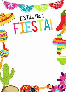 Fiesta Border Template Mexican Themed Party Ideas Fun Squared