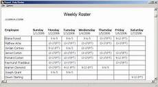 Shift Roster Format Duty Roster Format In Excel Free Download