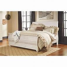 willowton sleigh bed b267 qsleighbed