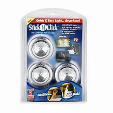 Small Stick On Lights Stick N Click Battery Operated Lights Set Of 3 Bed