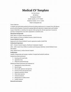 Medical Cv Template Free Medical Cv Template With Images Medical Resume