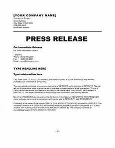 Press Releases Template 6 Press Release Templates Excel Pdf Formats