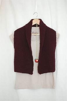 coze easy knit vest pattern laylock knitwear design